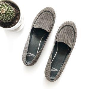 Dansko Debra Houndstooth Slip On Loafer Grey Sz 7